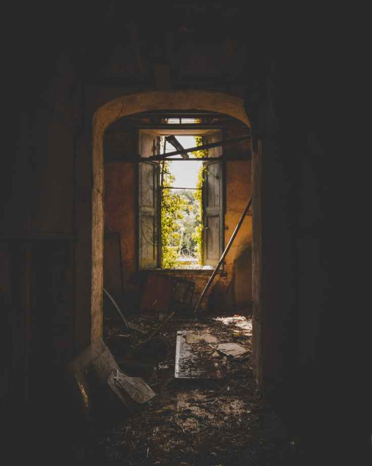 inside of an abandoned building