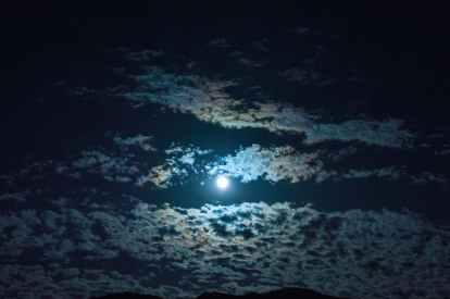 clouds dark moon moonlight