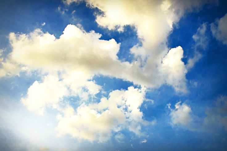 beautiful blue sky bright cloudiness