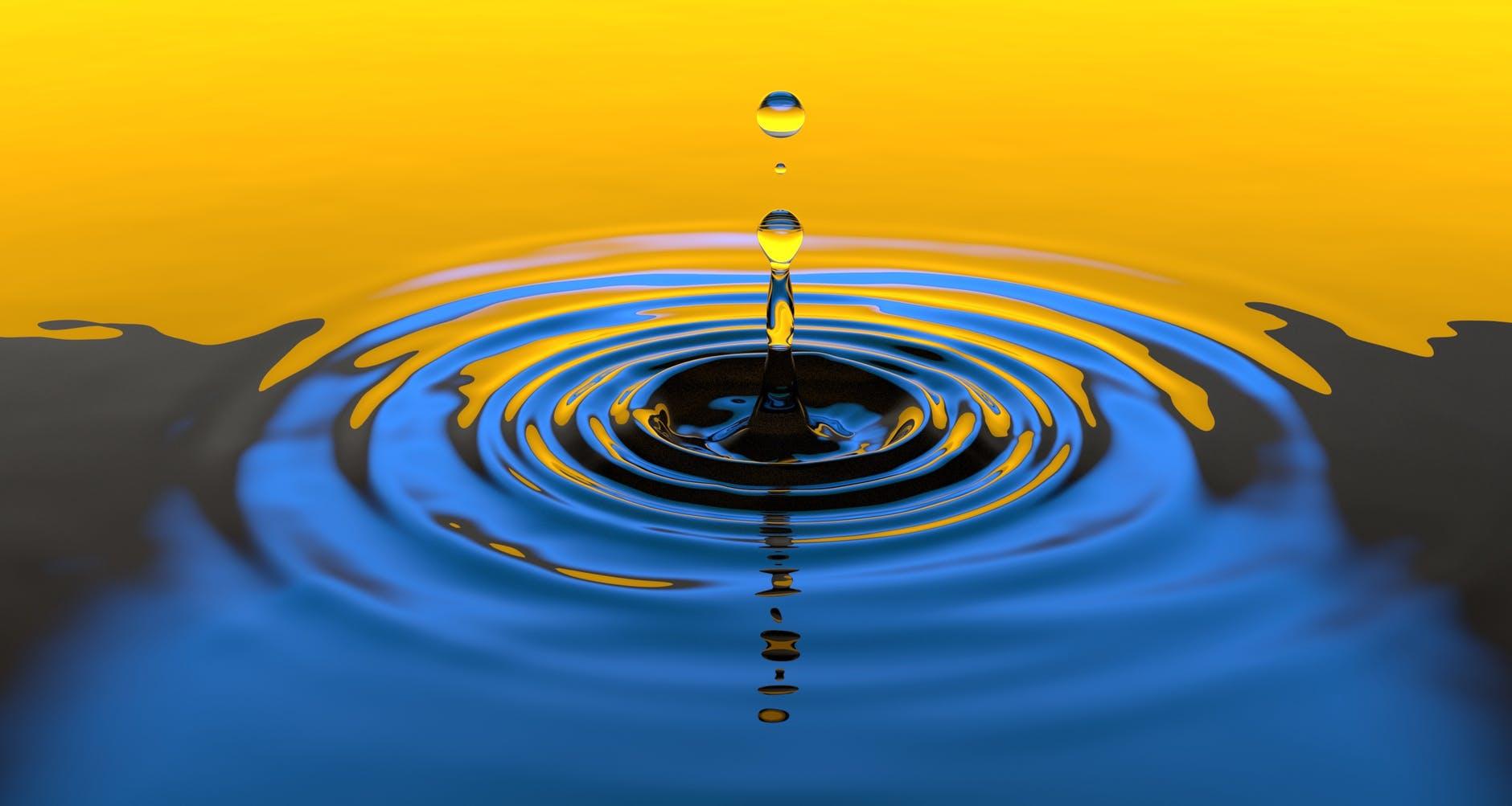 circle clean clear drop