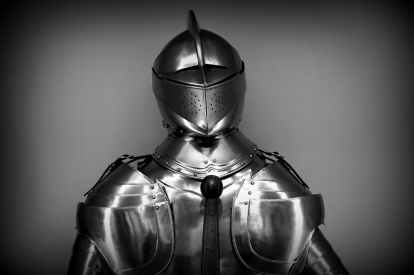 antique armor black and white chrome
